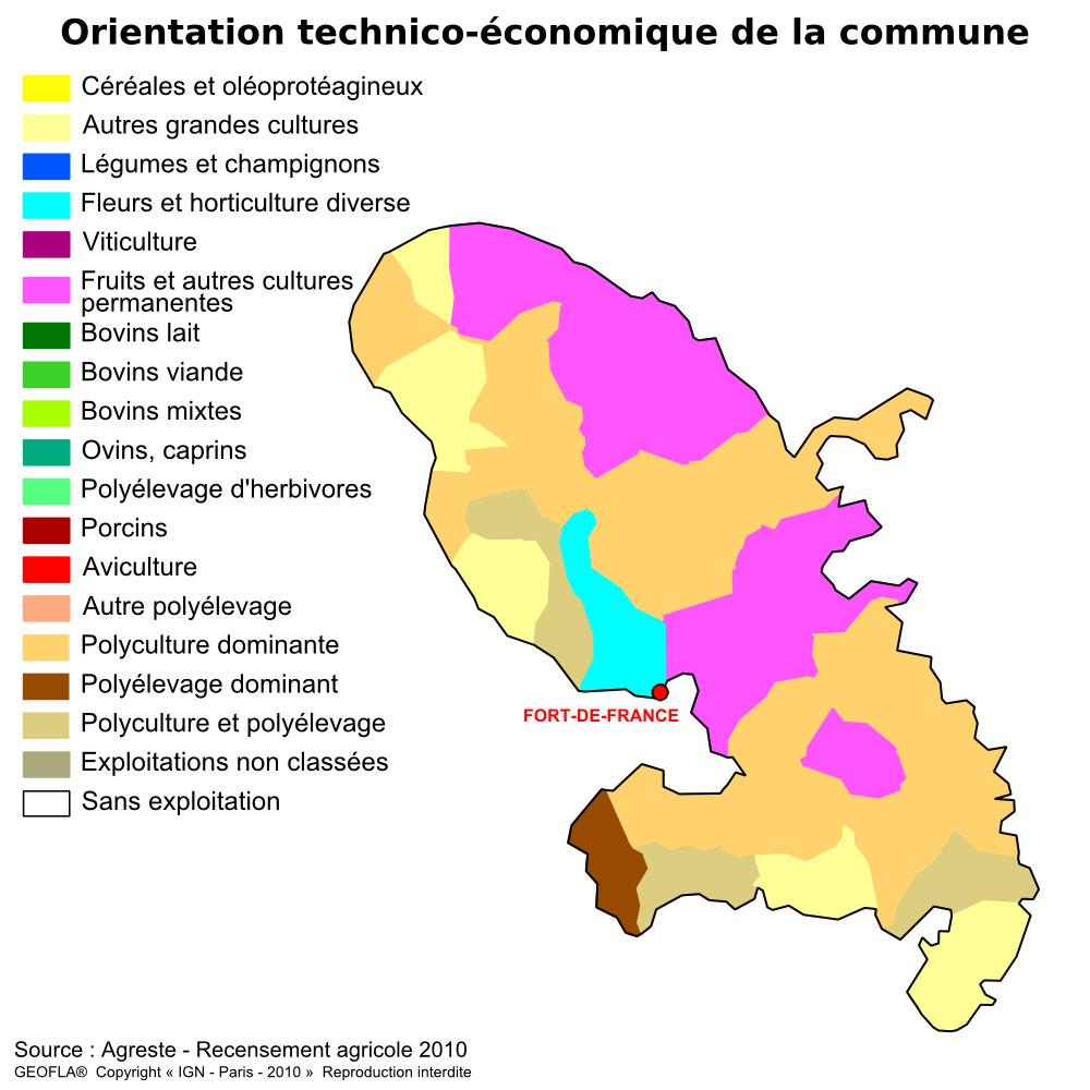 Carte OTEX Martinique