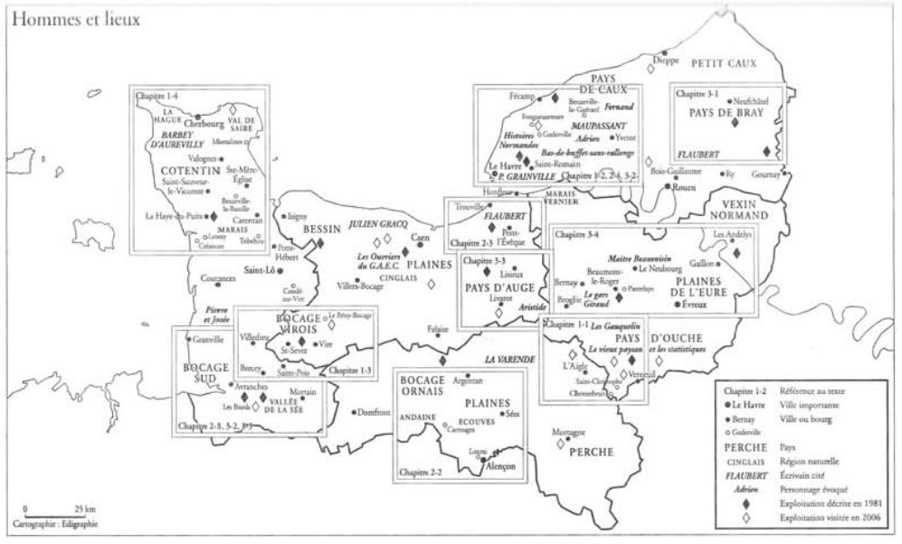 Paysans de Normandie Armand Frémont Carte Normandie