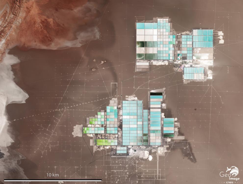 Mines de lithium dans le désert d'Atacama