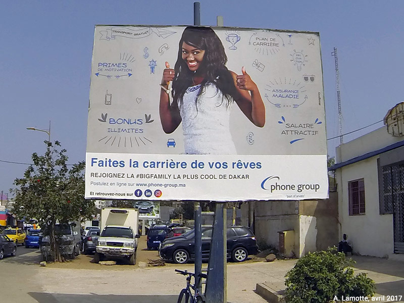 Alain Lamotte - Affiche call center Sénégal