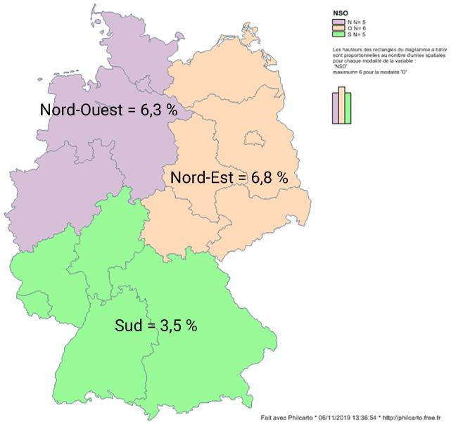 Taux de chômage en Allemagne carte