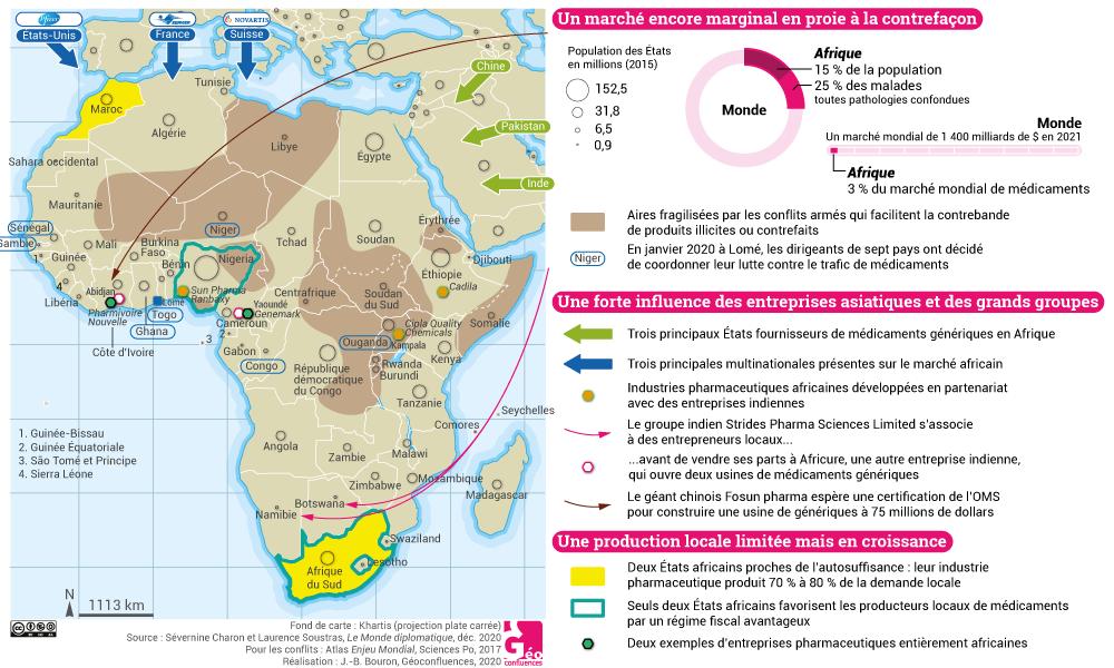 carte industrie pharmaceutique afrique