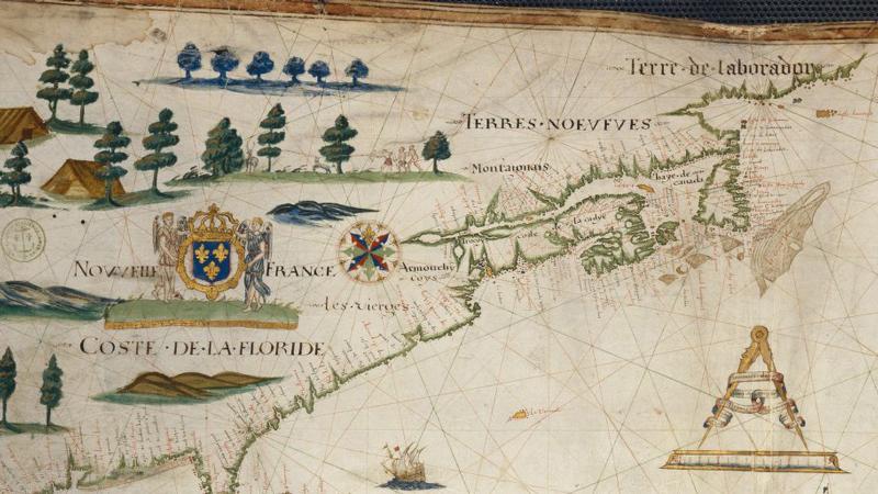 Carte Marine Bresil.Carte A La Une La Carte Marine De Pierre De Vaulx 1613