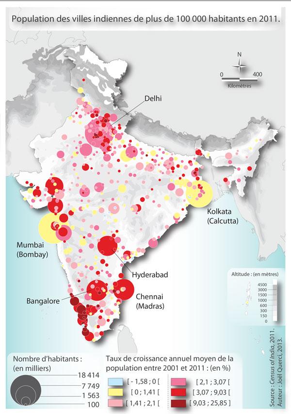 Carte Inde Principales Villes.Le Systeme Urbain Indien Une Construction Ancienne En