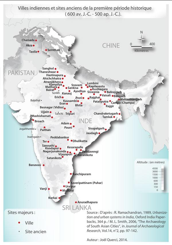 Carte De Linde Avec Ses Villes.Le Systeme Urbain Indien Une Construction Ancienne En