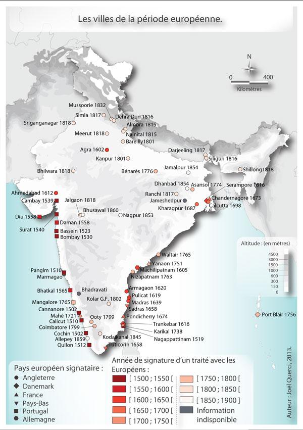 Le syst me urbain indien une construction ancienne en - Comptoirs francais en inde ...