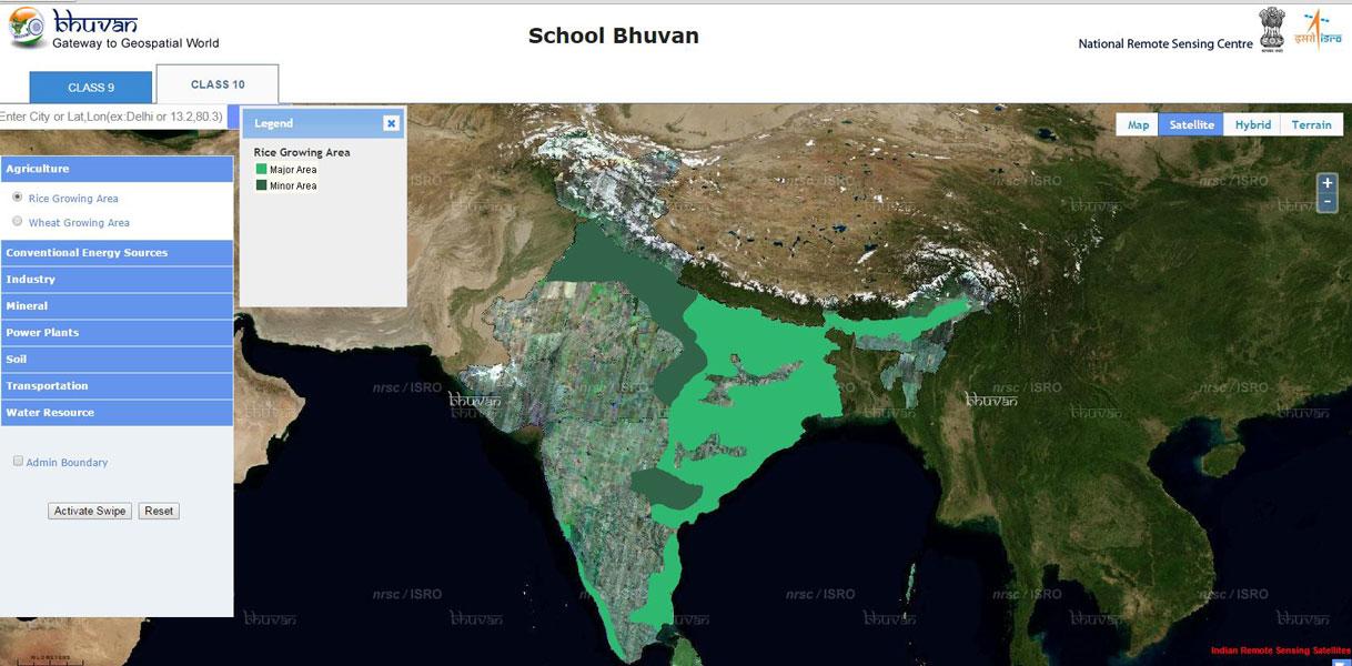Découvrir Bhuvan, le portail d'information géographique indien