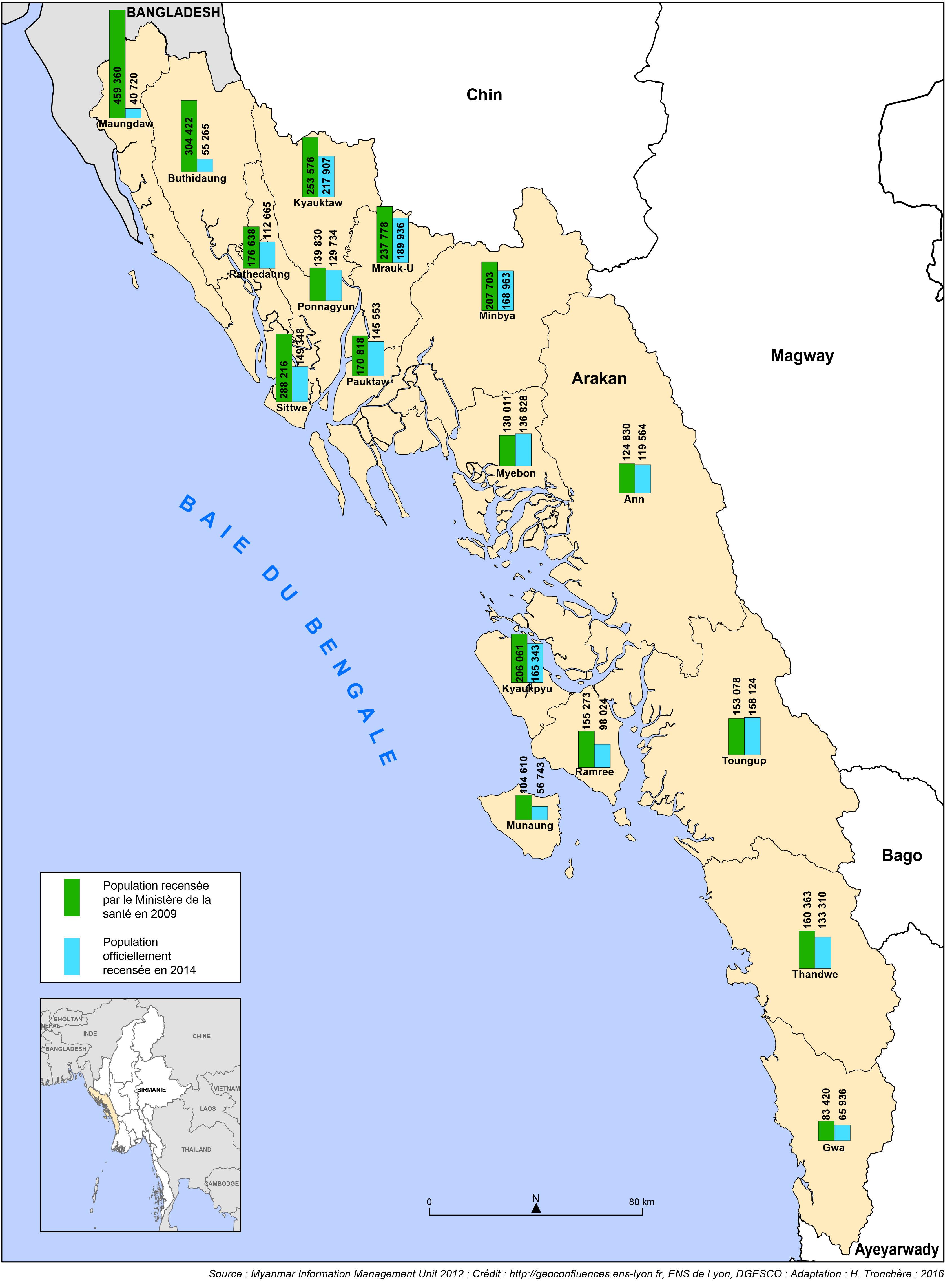 Carte Conflit Birmanie.Religions Politique Et Espace S La Question Rohingya